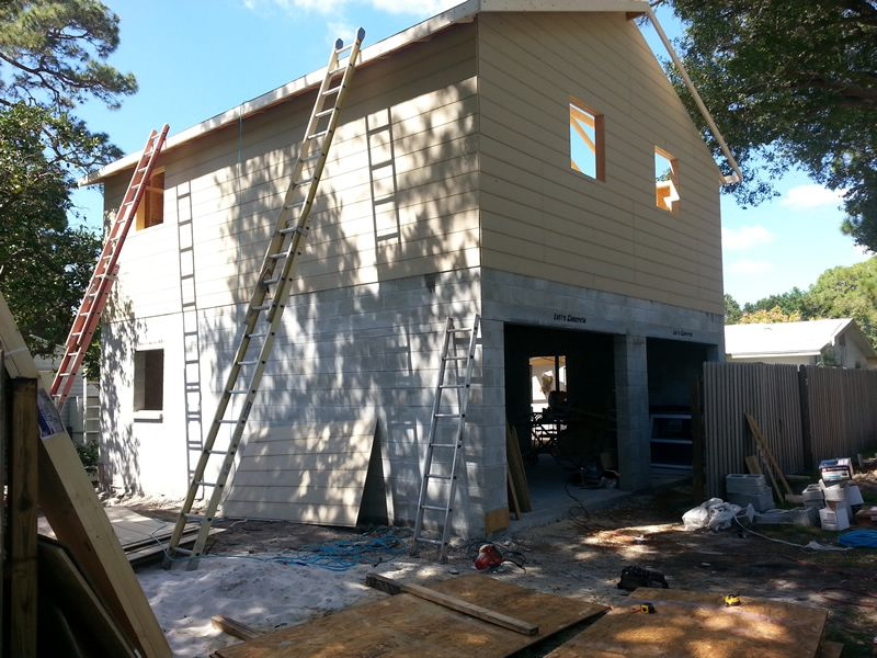 Two Story Concrete Block Garage Florida Shed 2 Story