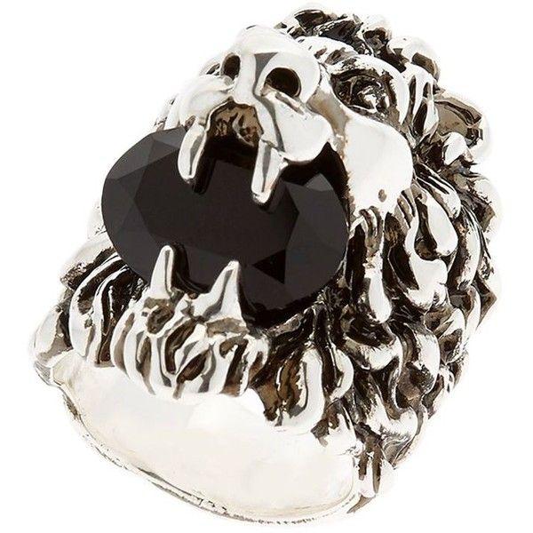 8bea8f978 Gucci Men Lion Head & Swarovski Ring (€305) ❤ liked on Polyvore