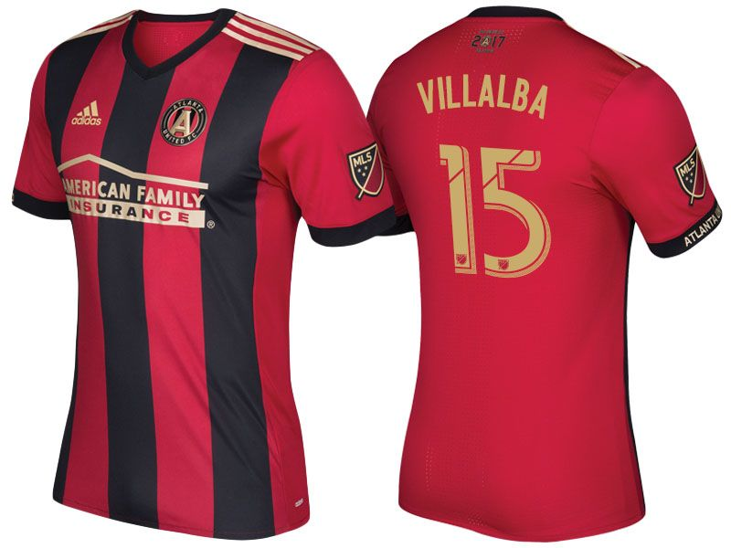 new product 6b226 22097 Atlanta United #15 Hector Villalba 17-18 5-Stripe Primary ...