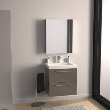 Meuble de salle de bains de 60 à 79, marron, Remix - meuble salle de bain marron