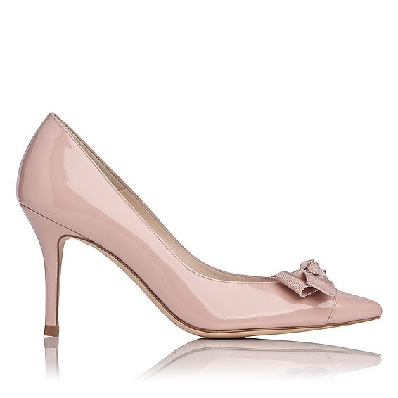 LK Bennett pale pink Irene Patent Leather Point Toe Court: http://fave