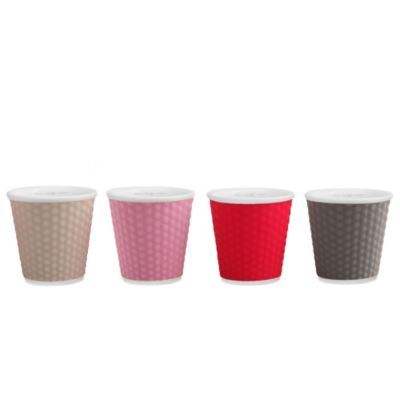 Les Artistes Paris Espresso Cups in Assorted Grey (Set of 4) - BedBathandBeyond.com