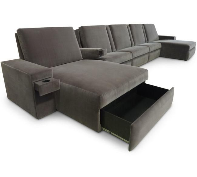 Fortress Belaire Home Theater Chaise Lounger Home Cinema Seating Fortress Seating Media Room Seating