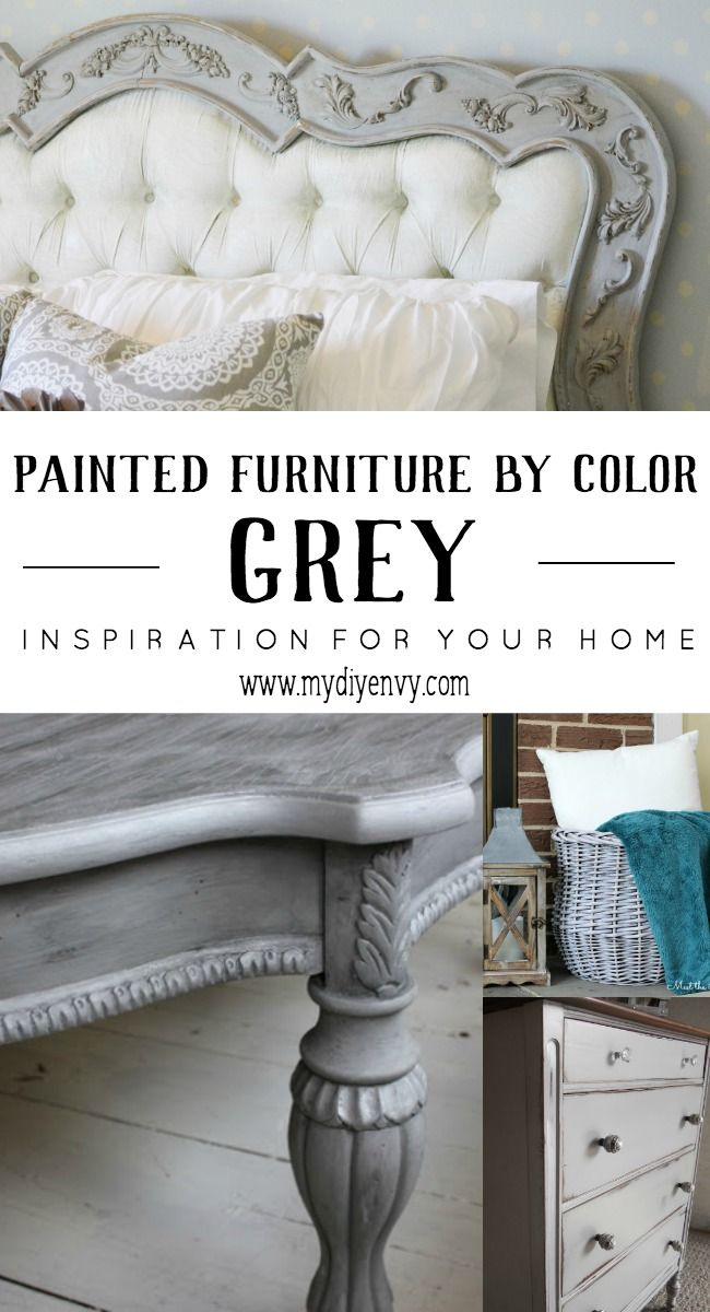 Lovely Chalk Painted Furniture By Color   GREY Chalk Paint