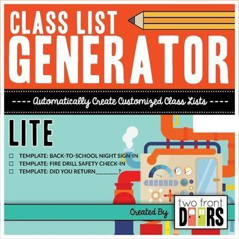 Free Class List Generator From Two Doors Down This Is Amazing