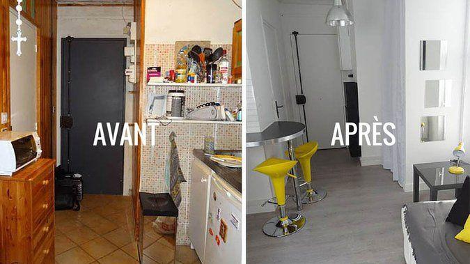 Avant / Après : Un 15 m² plein d\'ingéniosité passe de l\'ombre à la ...