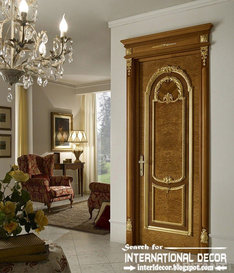 Exceptional Luxury Interior Doors For Classic Interior, Italian Door With Pronounced  Texture Of Wood