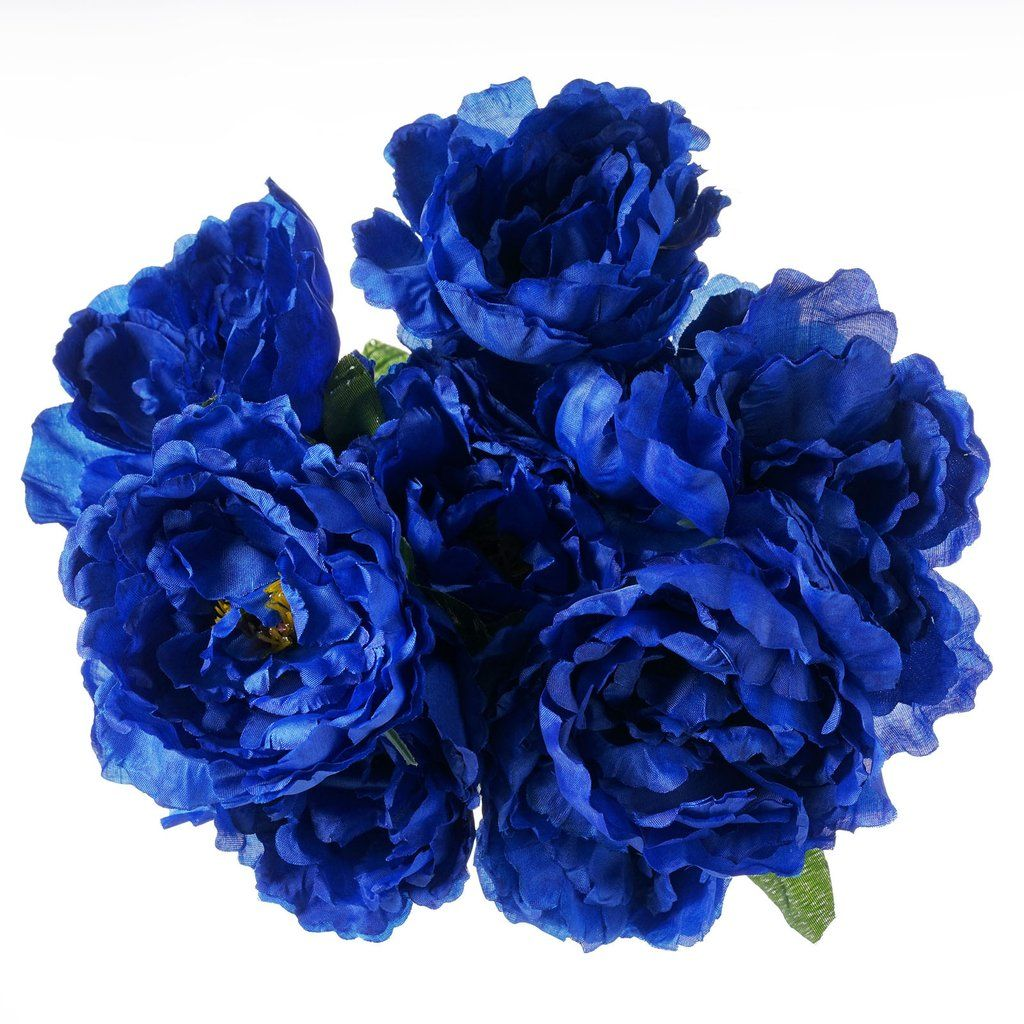 Artificial peony wedding flower bush bouquet centerpiece decor artificial peony wedding flower bush bouquet centerpiece decor royal blue thick ruffled blooms of enchanting peony flower coupled with its ability to izmirmasajfo