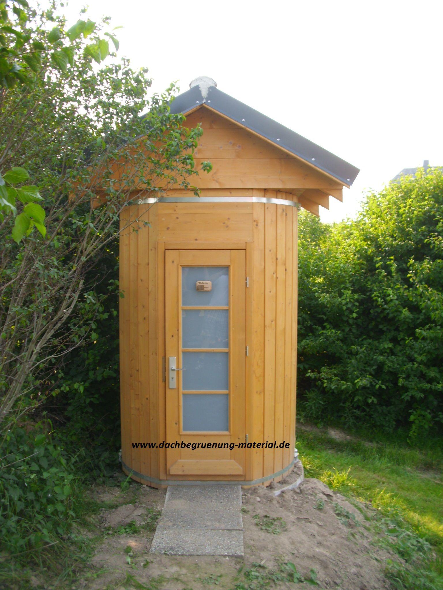 Inspirational Fasssauna u Garten WC bei dachbegruenung material de