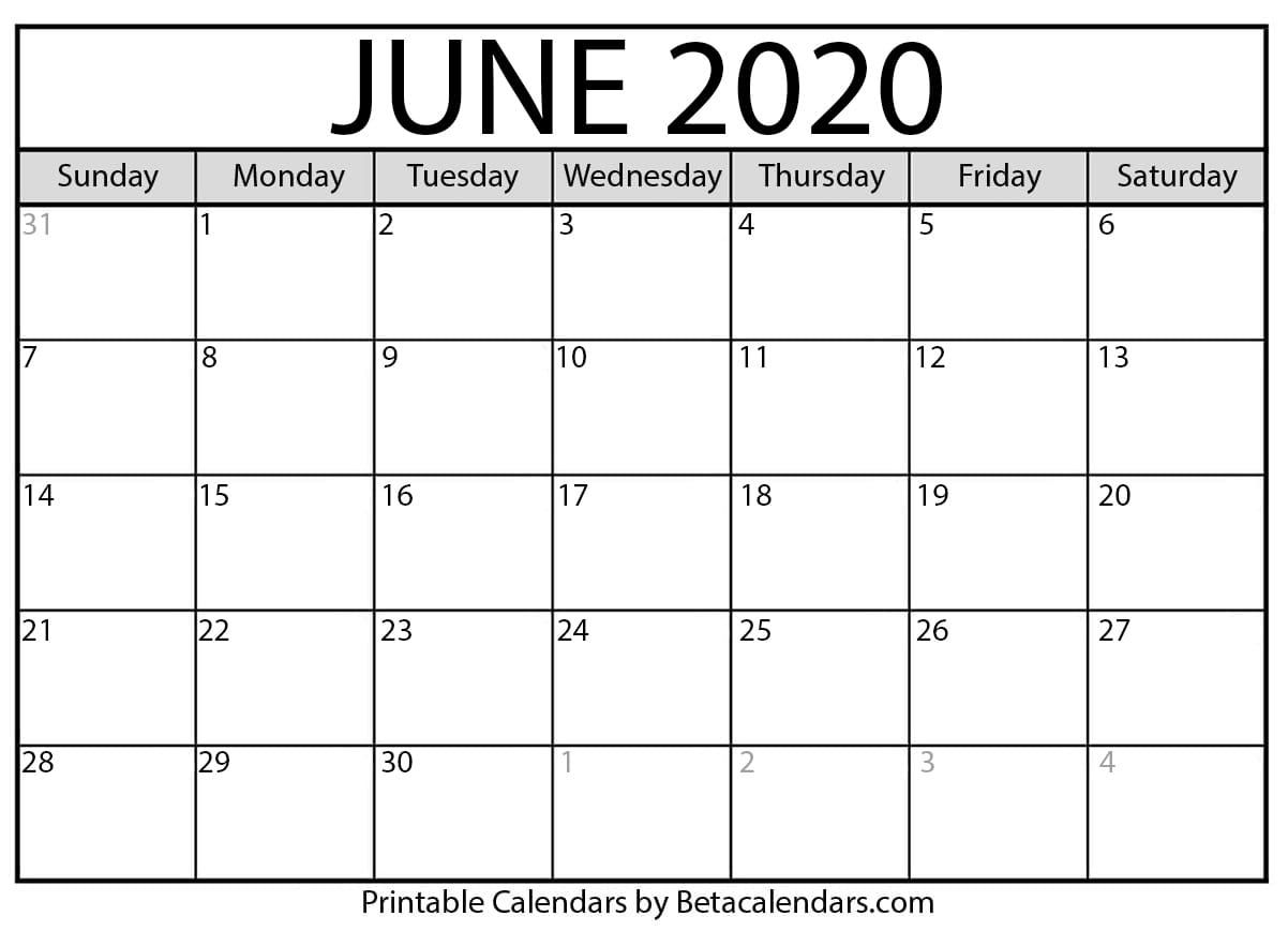 June Calendar 2020 Pleasant For You To My Own Weblog With This