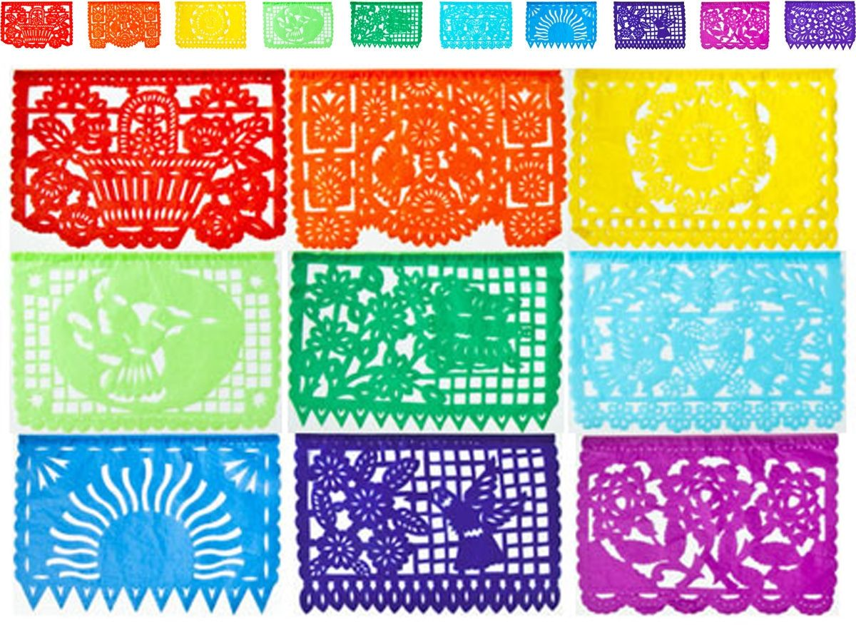 Paper Mache Ideas For Home Decor Mexican Papel Picado Tissue Paper Banner One 13 Foot