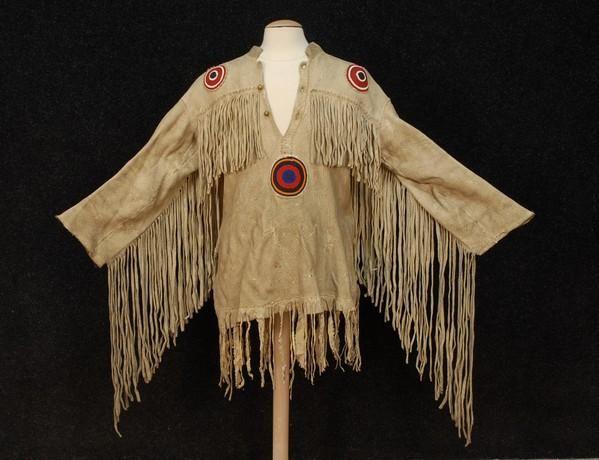 lakota ghost dance | NATIVE AMERICAN LAKOTA GHOST DANCE SHIRT, 20th C. Fring : Lot 382