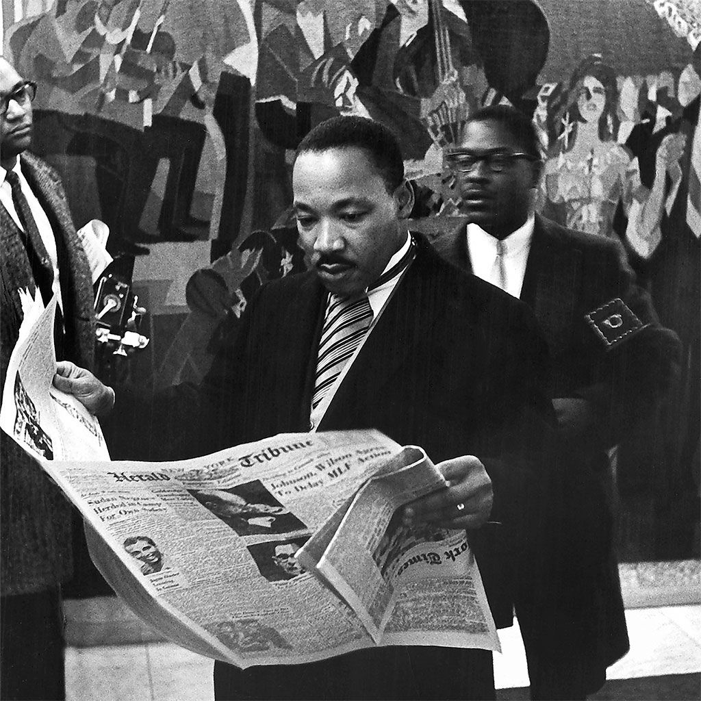 The Rev Dr Martin Luther King Jr During A Break At The Award