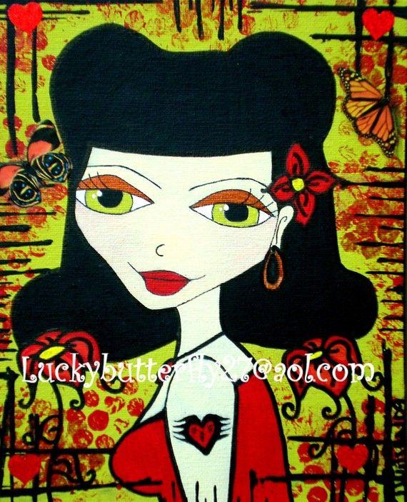 Rockabilly Beauty  8x10 Print by Luckybutterfly on Etsy, $20.00