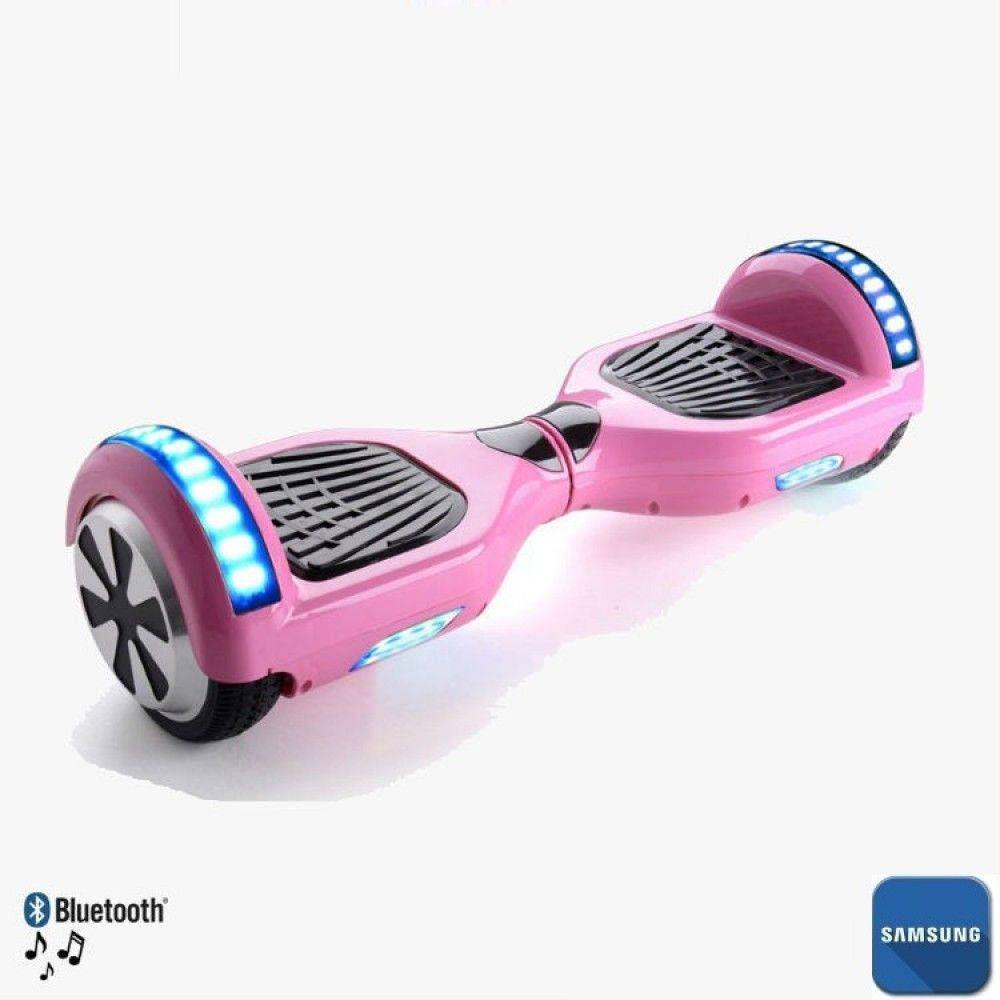Hoverboard 6 5 Rosa Bluetooth Led Lateral E Frontal Com Mochila Bateria Samsung Cabelos Em