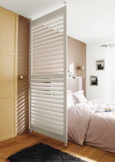 Cloison amovible  cloison coulissante, la séparation déco Bed - creer une porte coulissante