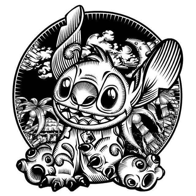 Image result for lilo and stitch vector black and white   Catrina ...