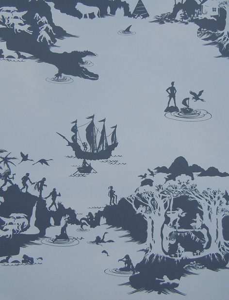 Peter Pan Silhouette Wallpaper.