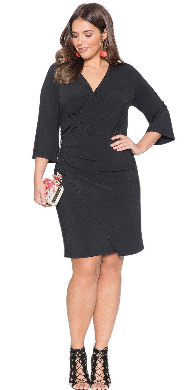 18 Plus Size Black Dresses With Sleeves Alexa Webb Plus Size Black Dresses Black Dress With Sleeves Black Dresses Classy [ 1354 x 661 Pixel ]