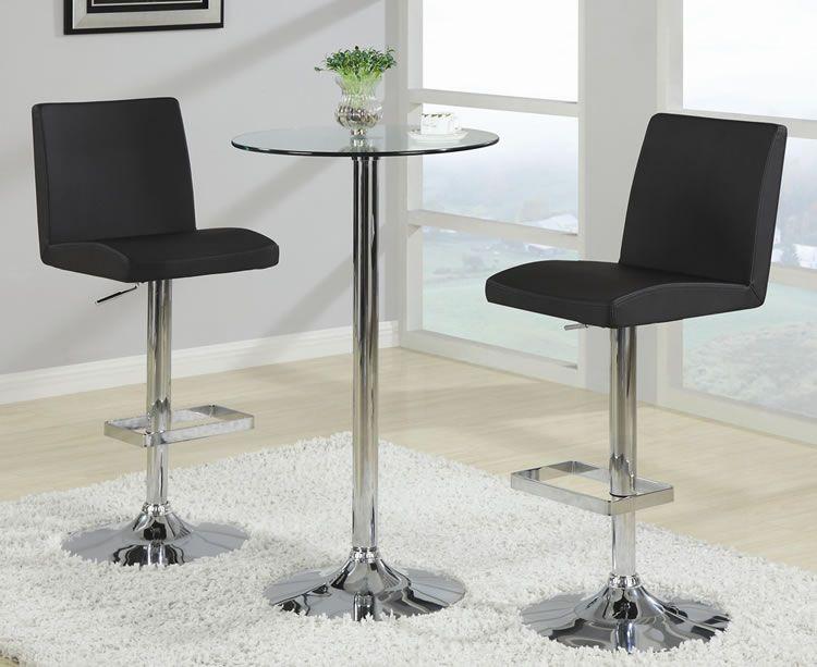 make your own home bar round glass pub table and modern black bar rh pinterest ca