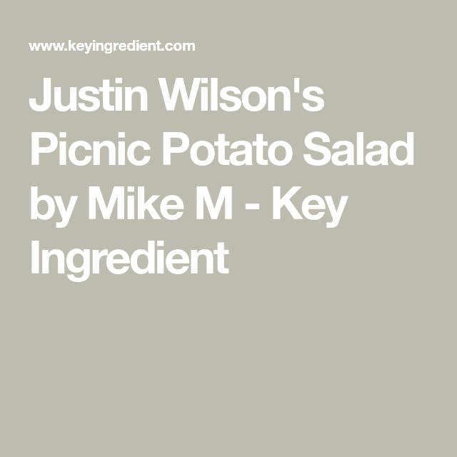 Justin Wilson Cajun Potato Salad Recipe