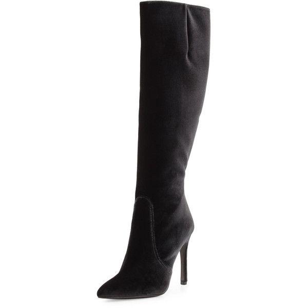Boots, Velvet boots, Velvet knee high boots