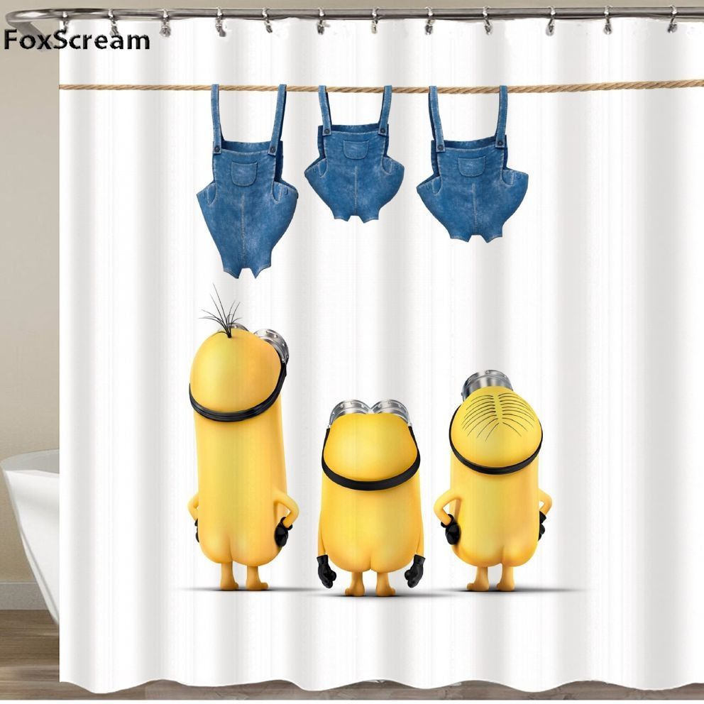 Minions Shower Curtains With Images Yellow Shower Curtains