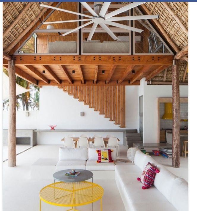 Tropical Beach House Interior: Open Lounging Area. Change Chairs To Filipino Ratan And