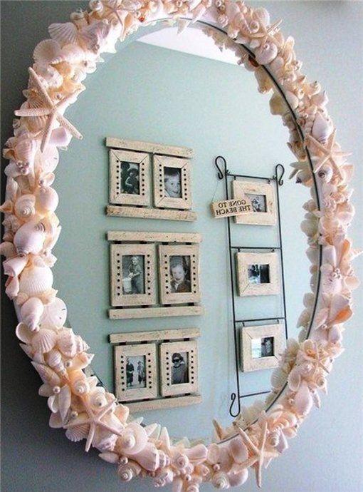 Как красиво задекорировать зеркало своими руками 58