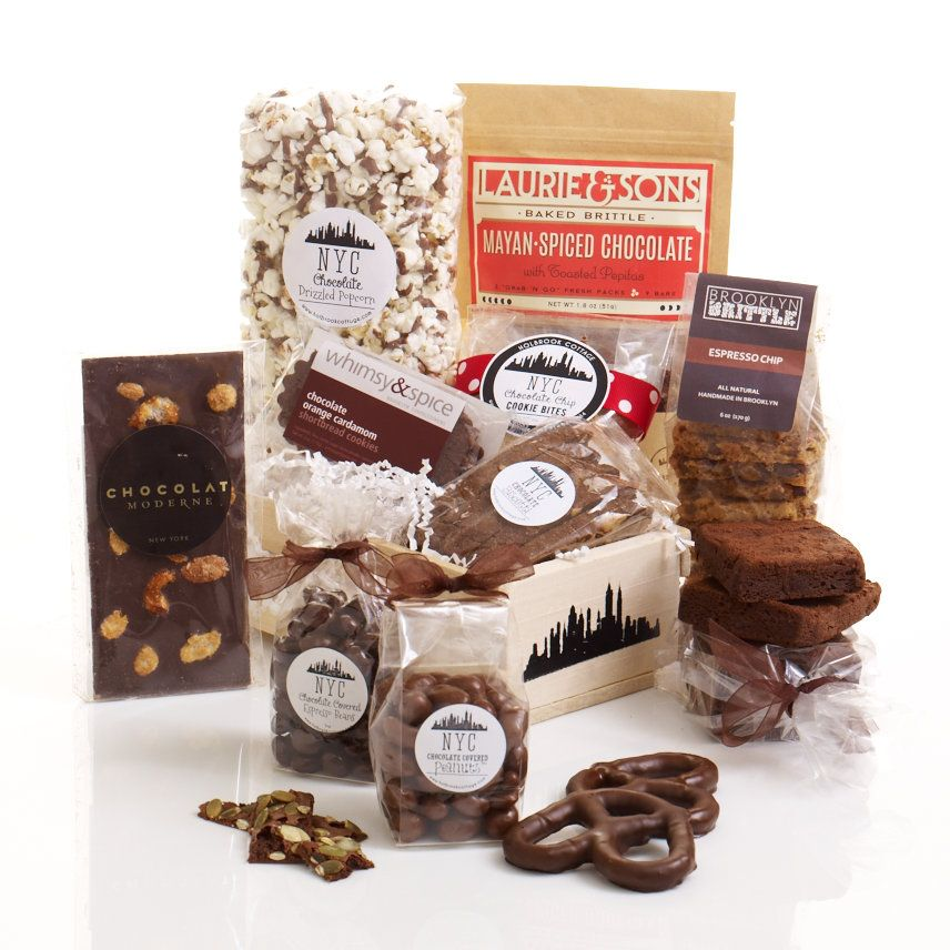 """NYC Chocolate Express Gourmet Gift Box #giftbasket ....If you want to get someone to chocolate nirvana in a hurry, take our """"C"""" Express!"""