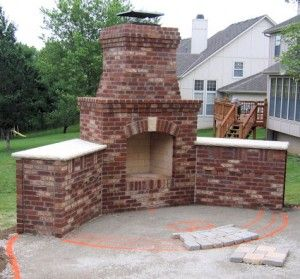 Outdoor Fireplace Ideas You Ll Be Able To Build Your Own Outdoor Heating Plant To Meet Y Backyard Fireplace Outdoor Fireplace Kits Outdoor Fireplace Designs