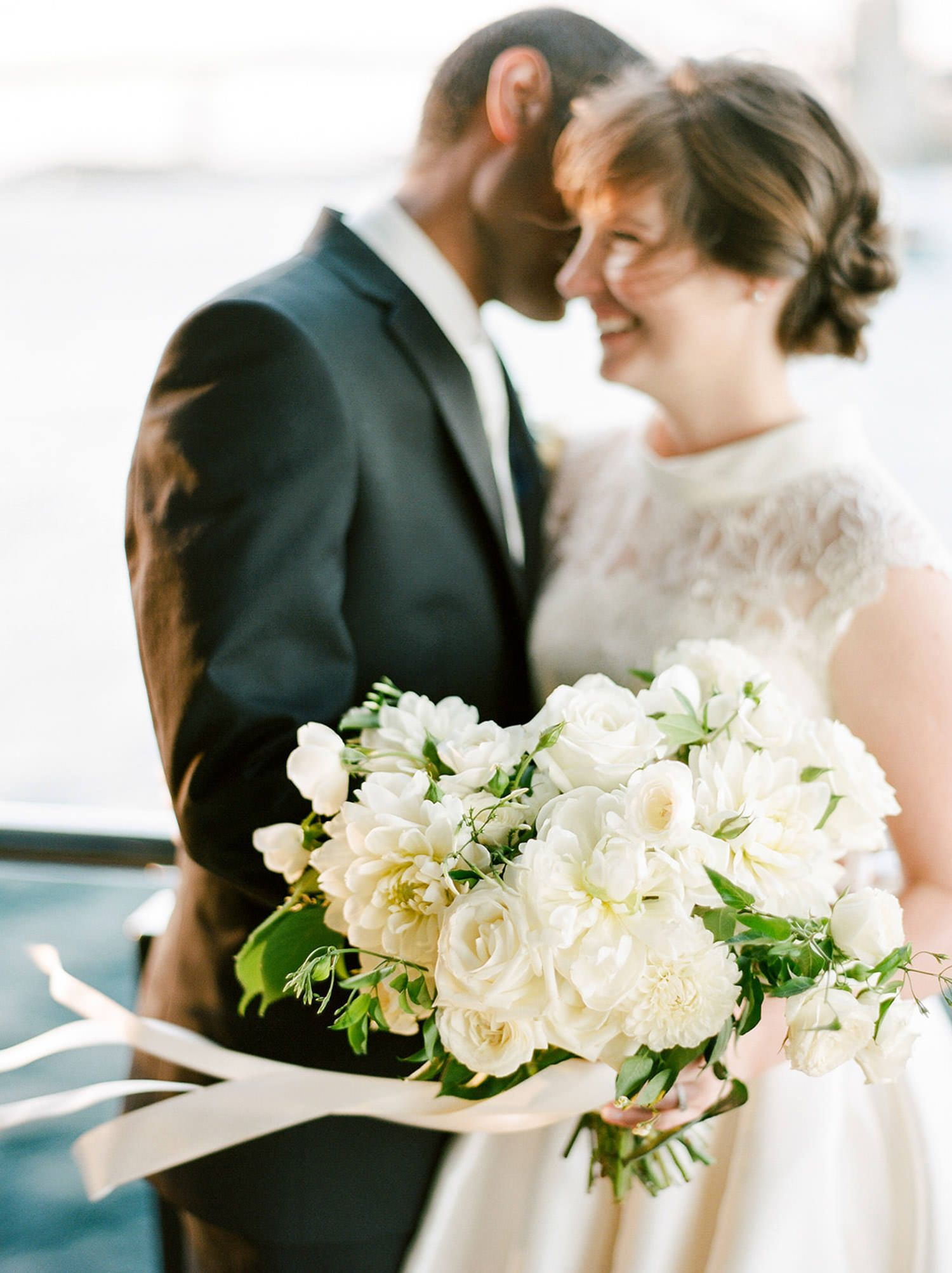 Bride and groom portraits with florals by trille floral u sydney