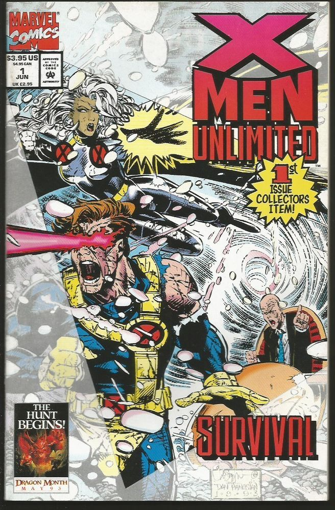 X Men Unlimited 1 Marvel Comics 1993 Thick 1st Print Lobdell Forge Marvel Comic Books Comics X Men
