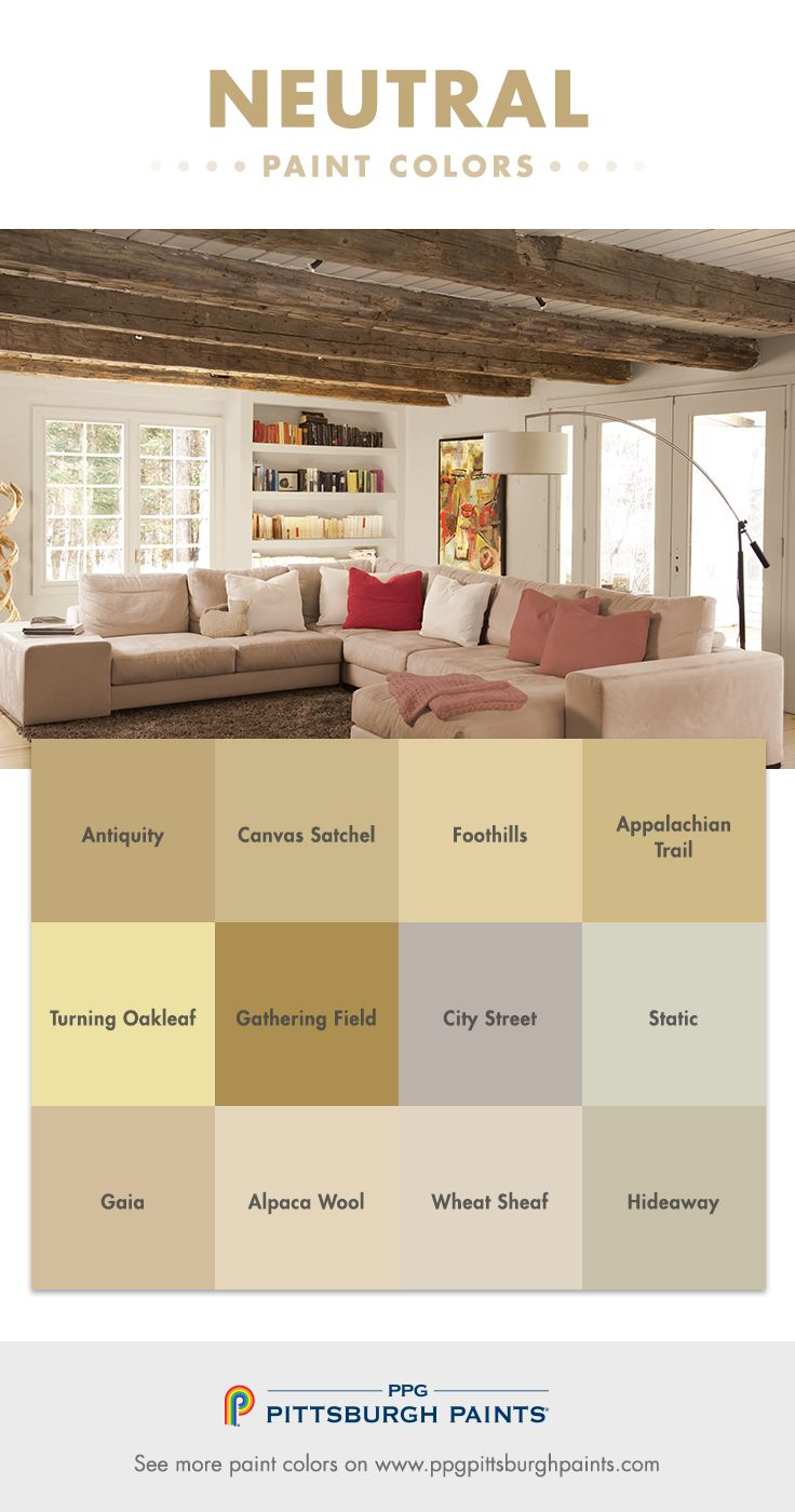Neutral paint colors cover a wide spectrum – from white to, grey, to ...