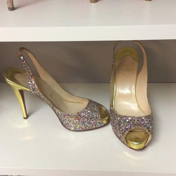 Christian Louboutin glitter heels Christian Louboutin glitter heels from Neiman Marcus. Only worn twice! Christian Louboutin Shoes Heels