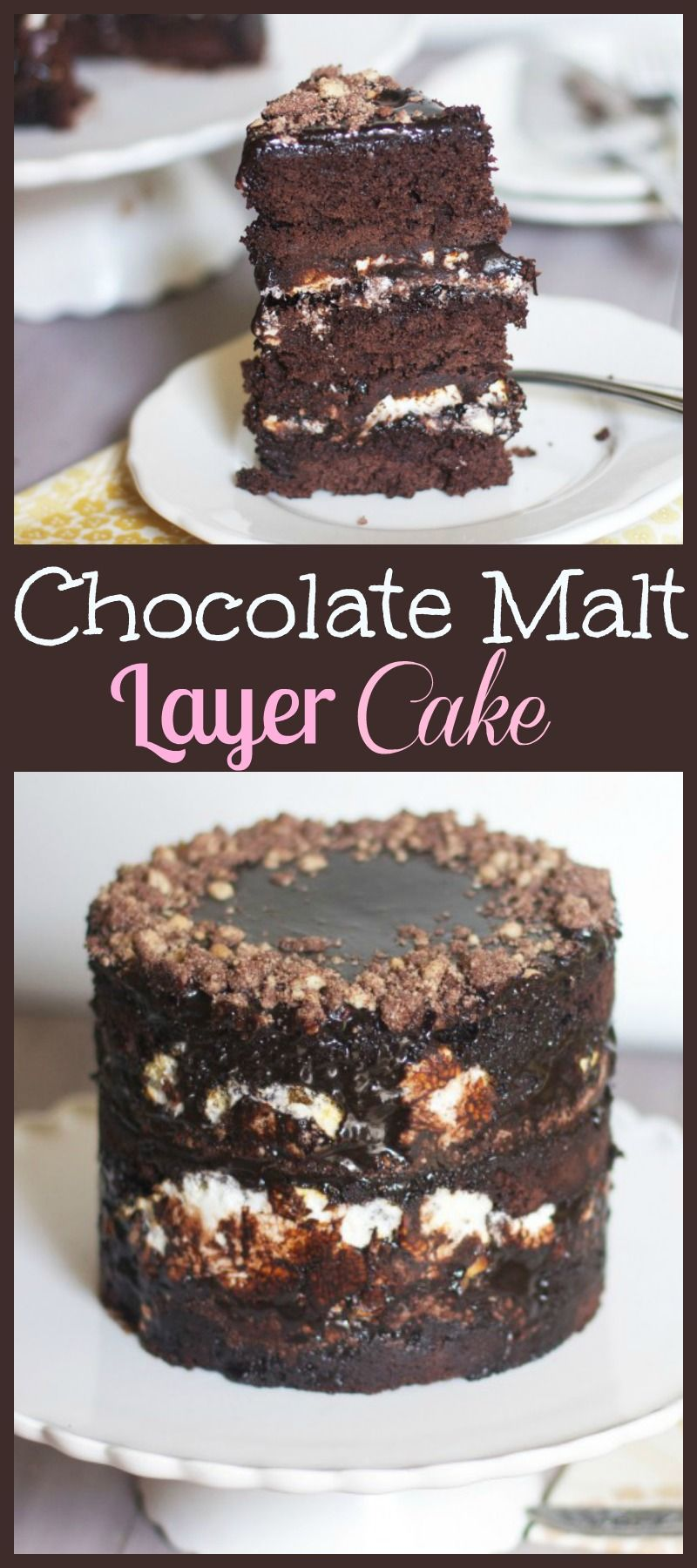 Chocolate Malt Layer Cake Chocolate malt, Cake, Chocolate