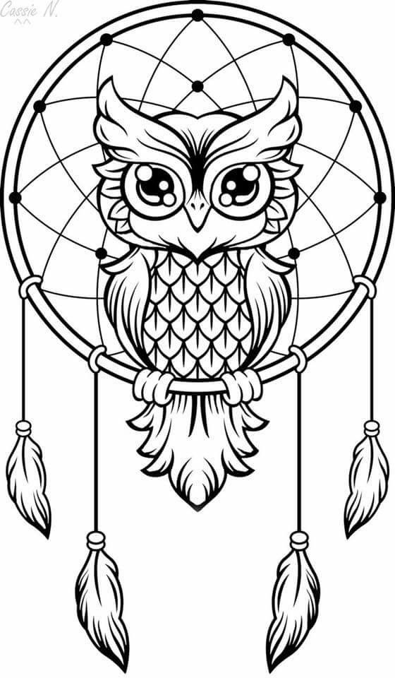 tattoo owl coloring pages - photo#22