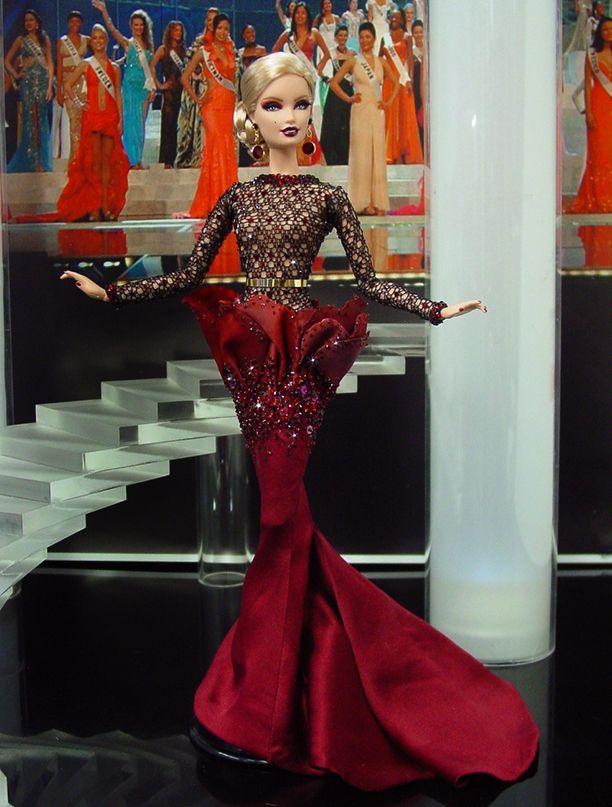 Miss Isle of Man 2013/14 – Vestido inspirado del diseñador francés  Stéphane Rolland - Otoño-invierno 2014