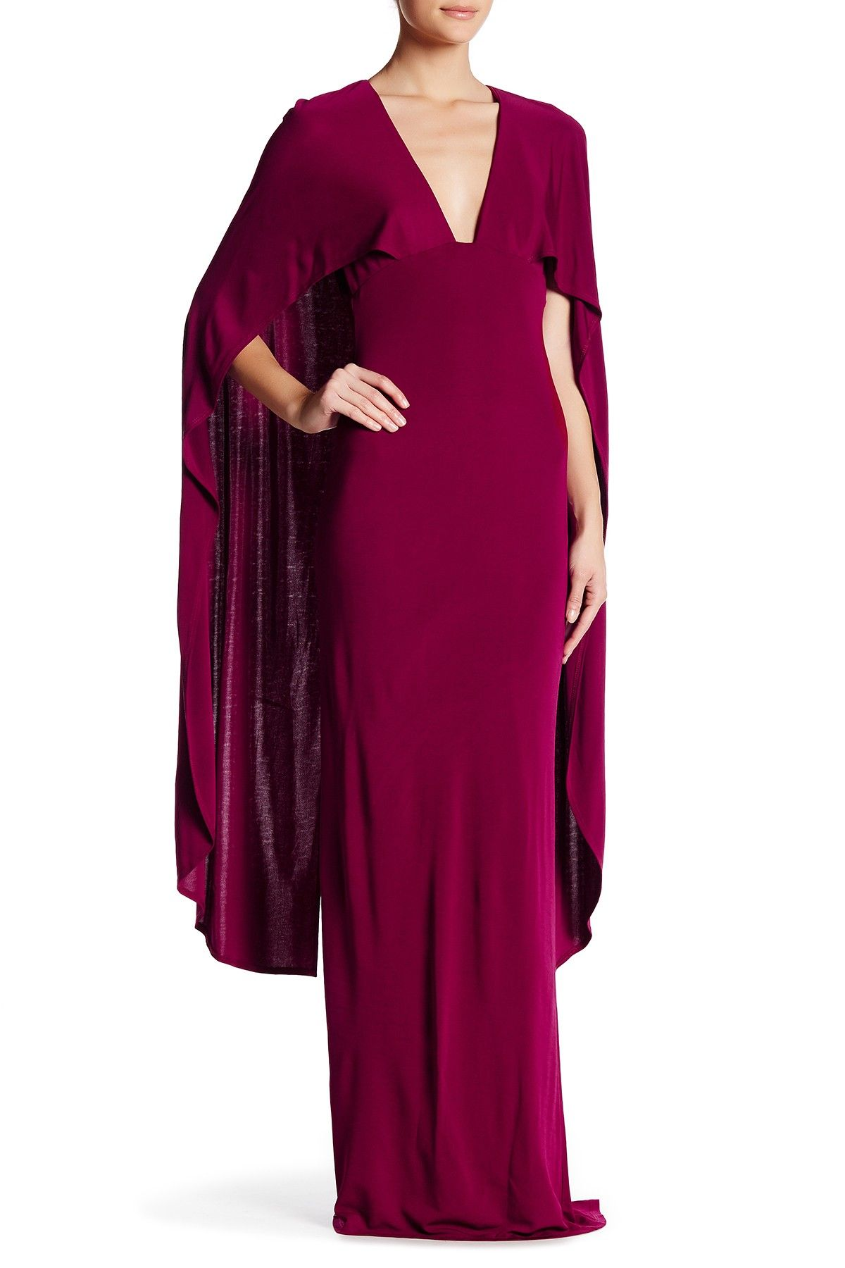 V-Neck Cape Gown   Cape, Free shipping and Products
