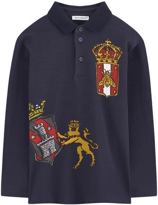 74ce0b134193 Dolce   Gabbana Sicilian badge print polo