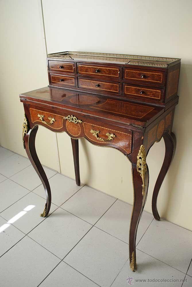 Escritorio luis xv marqueter a y bronce coleccion for Muebles de oficina luis xv