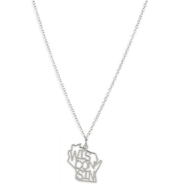 Kris nations state pendant necklace wisconsin silver one size 42 kris nations state pendant necklace wisconsin silver one size 42 found on polyvore aloadofball Images