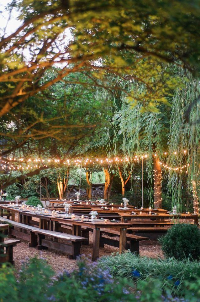 Alternative Boho Chic Wedding | Outdoor wedding lighting, Outdoor ...