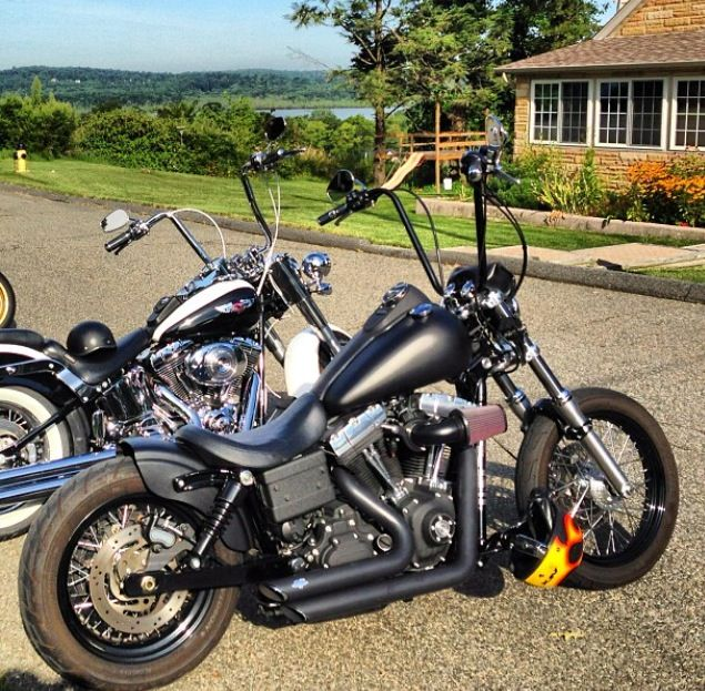 Tank Raise Harley Street Bob Bobber Motorcycle Harley Davidson Chopper