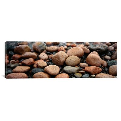 """East Urban Home Panoramic Rocks Acadia National Park, Maine Photographic Print on Canvas Size: 20"""" H x 60"""" W x 1.5"""" D"""