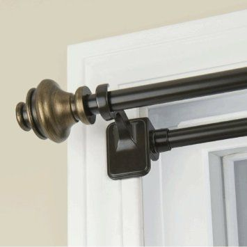 Amazon Com Tension Mount Decorative Curtain Rod Bronze