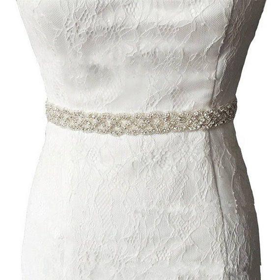 Bridal Dress Belt Wedding Gown Accessories White Waist Ribbon