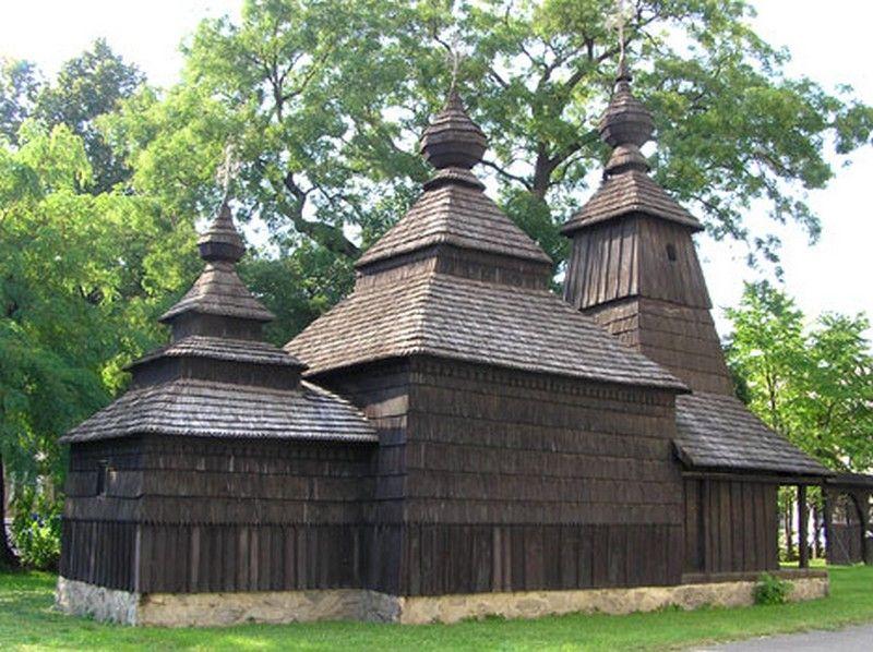 Wooden Byzantine Catholic Church In Slovakia Wooden Church