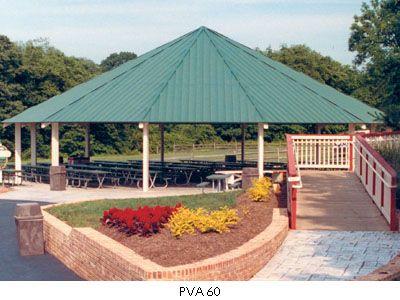 Twelve Sided Hip Roof Shelter Poligon Steel Park Shelter Picnic Shelter Carousel House Pavilions Hip Roof Pavilion Shade Structure