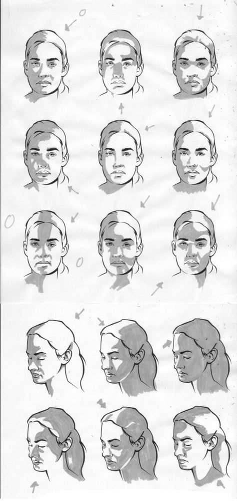 Female Facial Light Study By Charliekirchoff Deviantart Com On Deviantart Face Drawing Drawings Art Reference